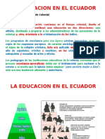 Historia Educación Ecuador