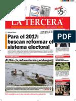 Diario La Tercera 23.01.2016