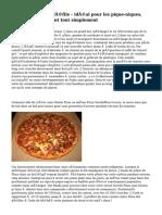 Pizza sans gluten défile - idéal pour les pique-niques, Parties et grignotant tout simplement