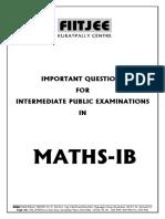 Maths Ipe Ib 2015