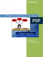 edtech 511 final project user manual