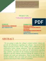 College Website Presentation