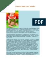 El Estreñimiento en Los Bebés y Sus Posibles Causas