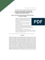 Efecto de La Inoculación Con Hongos Formadores de Micorrizas Arbusculares Sobre Plántulas de Caucho