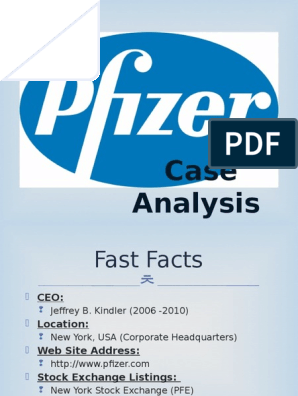 Pfizer Case Analysis | Pharmaceutical Drug | Mergers And