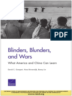 Blinders, Blunders, and Wars