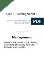 unit 3 - management