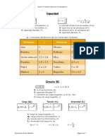 Tema 4. Formulario Básico de Condensadores