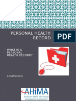 informatics week 6 personal health record presentation