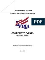 kentucky competitive events guidelines 2015-16