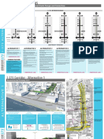 Diagrams of alternatives to I-375 in Detroit