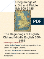 The Beginnings of English
