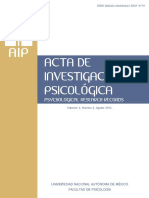 Acta de Investigación Psicológica (Psychological Research Records) Vol 3 (2) Ago 2013 -Fac Psicología, UNAM