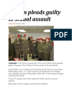 17 Sep 2003 - Cadet Officer Pleads Guilty to Sexual Assault