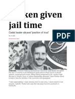 14 Nov 2003 - Cadet Officer Given Jail Time