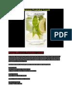 Resepi Detox Minuman Pembakar Lemak