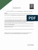 Skinner - Motives, Intentions, Interpretation