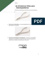 Pinzas de Ortodoncia Útiles Para Odontopediatras