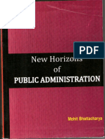 New Horizon of Public Administration by Mohit Bhattacharya