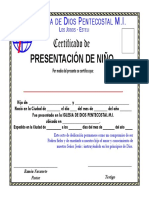 Diploma Certificado de presentaci+¦n de ni+¦o