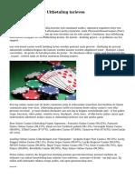 Best   Online Casino Uitbetaling tarieven