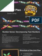 math unit plan