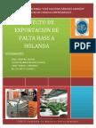 Proyecto de Exportacion de Palta Hass a Holanda Ing Industrial Proyecto de Negocios Internacionales 9 53083409