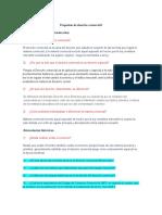 Preguntas de Derecho Comercial I
