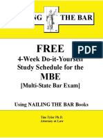 MBE Study Schedule