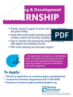 Fundraising and Development Intern Flyer