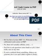 Crash Course in PHP