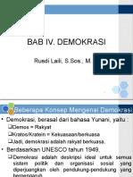 BAB IV Demokrasi