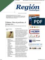24-01-2016 Priístas, Dios Si Perdona, El Tiempo No- La Región