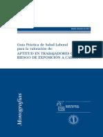 Guía Práctica de Salud Laboral para la valoración de la Aptitud en Trabajadores con Riesgo de Exposición a Carga Física