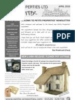 Petite Properties Ltd April 2010 Newsletter