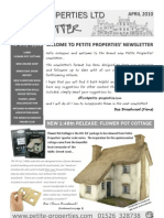 Petite Properties Ltd April 2010 Newsletter