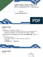 Aula 02 - Revisão Algoritmo