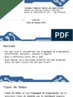 Aula 05 - Tipos de Dados
