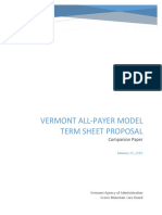 Vermont All Payer Model Information 1-25-16