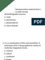 Microelectronics Questions