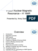 Proton Nuclear Magnetic Resonance – H1 NMR