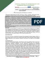 Pterocarpus Marsupium a Valuable Medicinal Plant in Diabetesmanagement