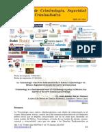 La Criminología como base fundamental de la Política Criminológica en México