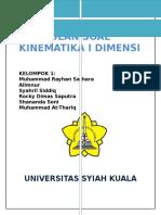 Kumpulan Soal Kinematika 1 Dimensi