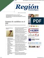 24-01-2016 Semana de Candidato en El PRI – La Región Tamaulipas