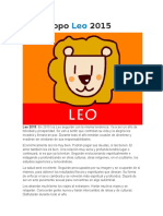 Horóscopo Leo 2015