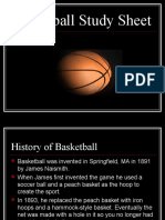 Basketball Study Sheet