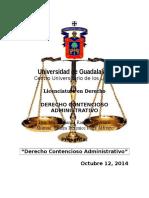 Derecho Contencioso Administrativo 12 de Octubre 2014