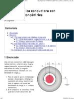 Corteza Esférica Conductora Con Distribución Concéntrica