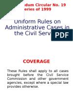 Procedures in Admin. Case